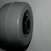 Ролик мебельный серо-чёрный (Ф-35мм), материал резина