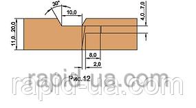 Фрезы  для изготовления обшивочной доски ( вагонки )         В=12…22        137х40х22х3