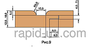 Фрезы для обшивочной доски ( вагонки R=4 ) «ТАЙГА» В=12…16             160х40х16х4