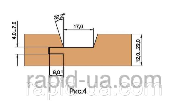 Фрезы для обшивочной доски ( вагонки )    В=12…22           180х40х22х4