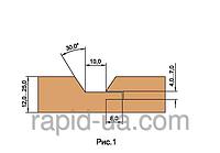 Фрезы   для обшивочной доски ( вагонки )   В=12…21              180х60х22х4