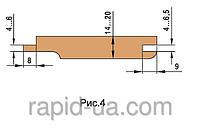 Комплект фрез для изготовления обшивочной доски (вагонки)         160х40/60х30х4