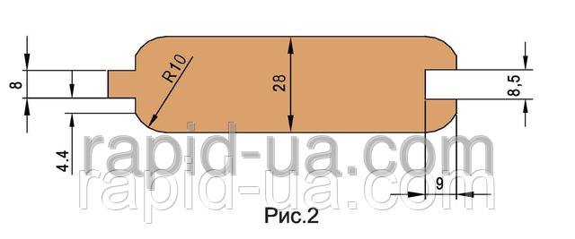Комплект фрез для изготовления обшивочной доски (вагонки)         180х40х17х3