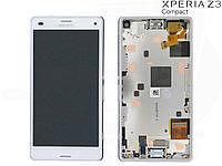 Дисплейный модуль (+ сенсор) для Sony Xperia Z3 Compact (Mini) D5803/D5833, с рамкой, оригинал