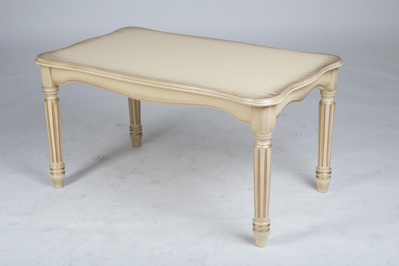Венецианский столик журнальный Палермо 1000х600х520 мм слоновая кость
