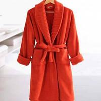 Махровый халат Irya Waves Tile размер s/m морковный