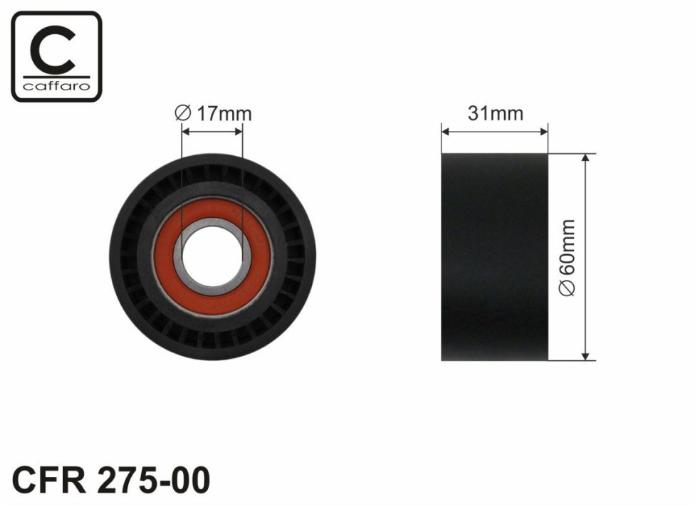 Натяжитель ремня генератора (ролик) на Renault Trafic II 03->2014 2.5dCi — Caffaro (Польша) - CFR275-00