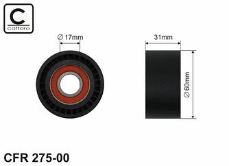 Натягувач ременя генератора (ролик) на Renault Trafic II 03->2014 2.5 dCi — Caffaro (Польща) - CFR275-00