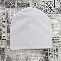 Демисезонная трикотажная двойная х/б шапка 4-12 лет, ОГ 52-56 см.
