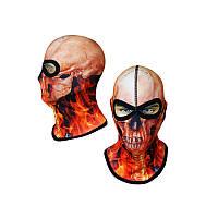 Балаклава череп, маска подшлемник Radical Subskull (оранжевый) (Польша) r3142