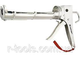 """Пистолет для герметика, 310 мл, """"полуоткрытый"""", хромир., зубчатый шток 7 мм MATRIX (MTX) 886409"""