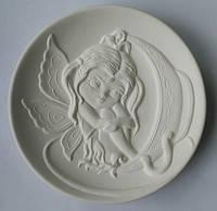 """""""Фея в чашке"""" - декоративная тарелка для росписи с объёмным рельефом"""