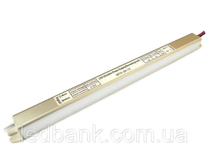 Блок питания для светодиодной ленты 24 Вт 12В MTK-24-12 тонкий