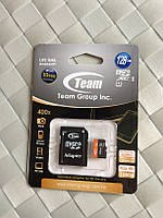 Карта памяти microSDXC (UHS-1) Team 128Gb class 10 (adapter SD)