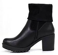 Осенние женские ботинки на удобном каблуке