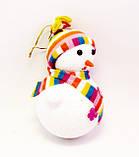 Ёлочная игрушка-Снеговик-16,0 см.-6 шт., фото 2