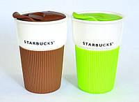 Керамическая чашка с съемным чехлом VIA «Starbucks», салатовая шоколад