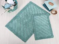 Набор ковриков из хлопка 60х90 и 40х60 Irya DOLY Yeşil