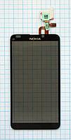 Тачскрин сенсорное стекло для Nokia E7-00 black