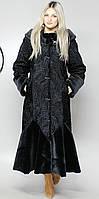 Женская шубка искусственная черный каракуль  М-101 44-58 размеры