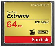 Карта памяти sandisk 64 Гб compact flash extreme r120 w85mb/s (sdcfxsb-064g-g46)