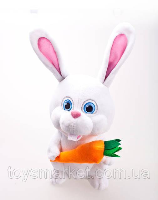 Мягкая игрушка детская, кролик Снежок