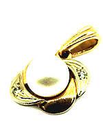 Золотой кулон с бриллиантом и жемчугом