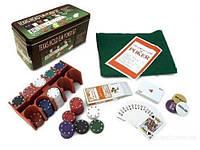 Набор для покера 200 фишек, покерный набор.
