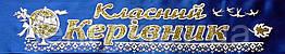 Класний керівник - стрічка атлас, глітер, обводка (укр.мова) Синий, Золотистый, Белый, Украинский
