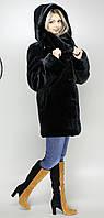 Женская шубка искусственная  черный мутон  М-114 44-58 размеры