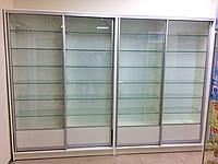 Изготовление витрин-купе с ДСП стеклянных на заказ