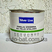 Краска для дисков однокомпонентная Silver Line, серебристая, мелкое зерно, 0,5 л