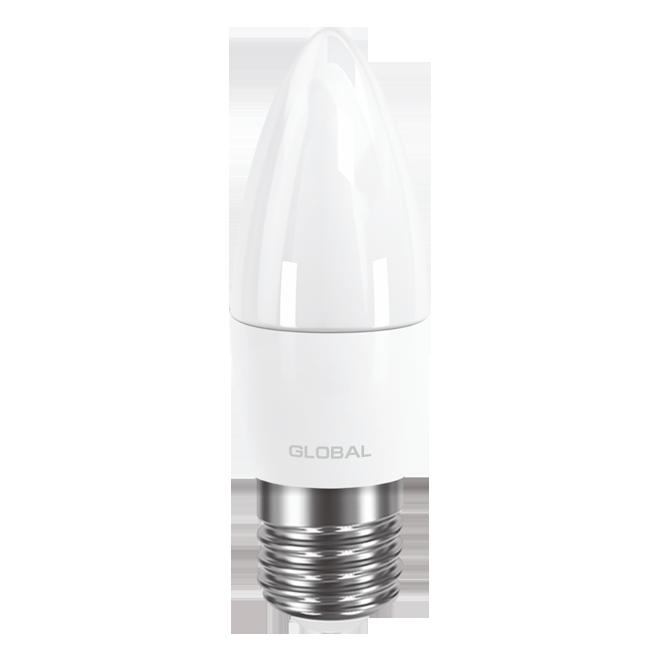Светодиодная Лампа Свечка 5W Е27 GLOBAL 400lm,3000k