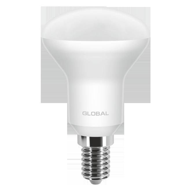 Светодиодная Рефлекторная Лампа R50 5W E14 GLOBAL 400lm,3000k