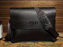 Деловой портфель через плечо Polo Videng Темно-коричневый