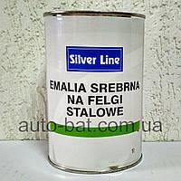 Краска для дисков однокомпонентная Silver Line, серебристая, мелкое зерно, 1 л