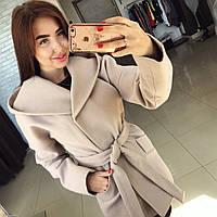 """Кашемировое пальто """" Монреаль """" с карманами и поясом, цвет карамель. Арт- 8787/74"""