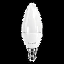 Светодиодная Лампа Свечка C37 4W E14 MAXUS 360lm,3000k