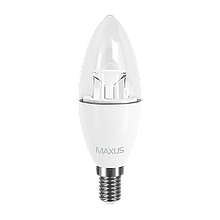 Светодиодная Лампа C37 6W E14 MAXUS 500lm,3000k