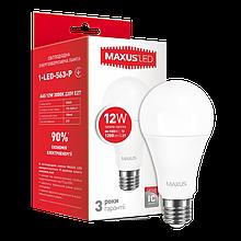 Светодиодная Лампа A65 12W E27 MAXUS 1200lm,3000k
