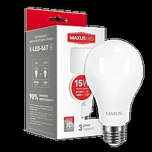 Светодиодная Лампа A60 8W E27 MAXUS(филамент) 800lm,4000k