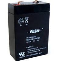 Аккумулятор Свинцово-кислотный Батарея CASIL CA628 2.8Ah, 6V