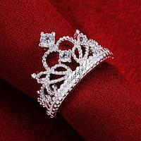 """Кольцо """"Корона Короля"""" покрытое серебром"""