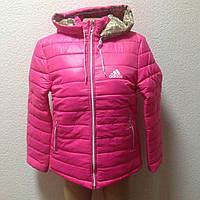 Женская спортивная куртка розовая оптом, фото 1