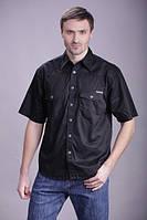 Мужская рубашка MONTANA черного цвета, короткий рукав