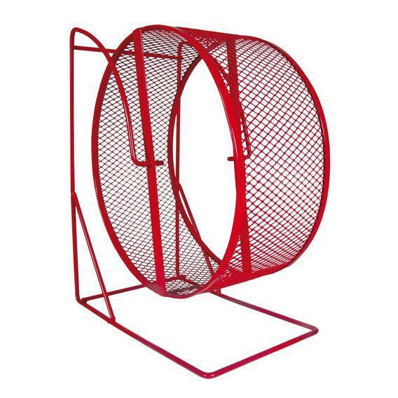 Колесо для грызунов Trixie металлическое сетка на подставке, 17 см