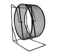 Колесо для грызунов Trixie металлическое сетка на подставке, 22 см