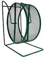 Колесо для грызунов Trixie металлическое сетка на подставке, 28 см