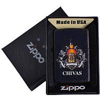 Зажигалка бензиновая Zippo CHIVAS в подарочной упаковке 4740-2 SO