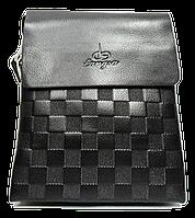 Оригинальная мужская коричневая сумка планшет из искуcственной кожи Langsa CМ-27, фото 1